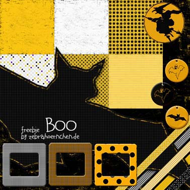 free scrapbooking kit boo halloween